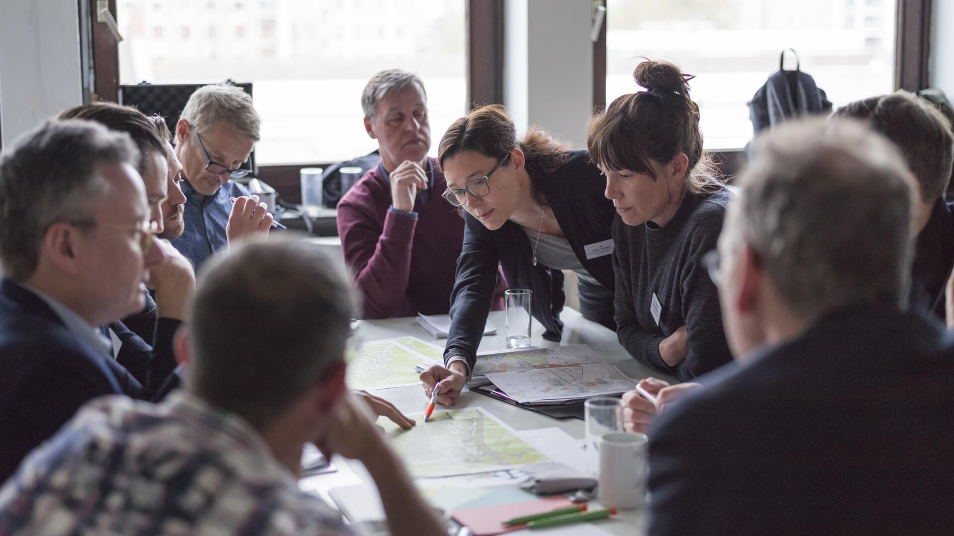 2019: Workshop PHV mit dem agilen Team der Stadtverwaltung, der IBA und den Fachplanerinnen und -planern. © Diemer