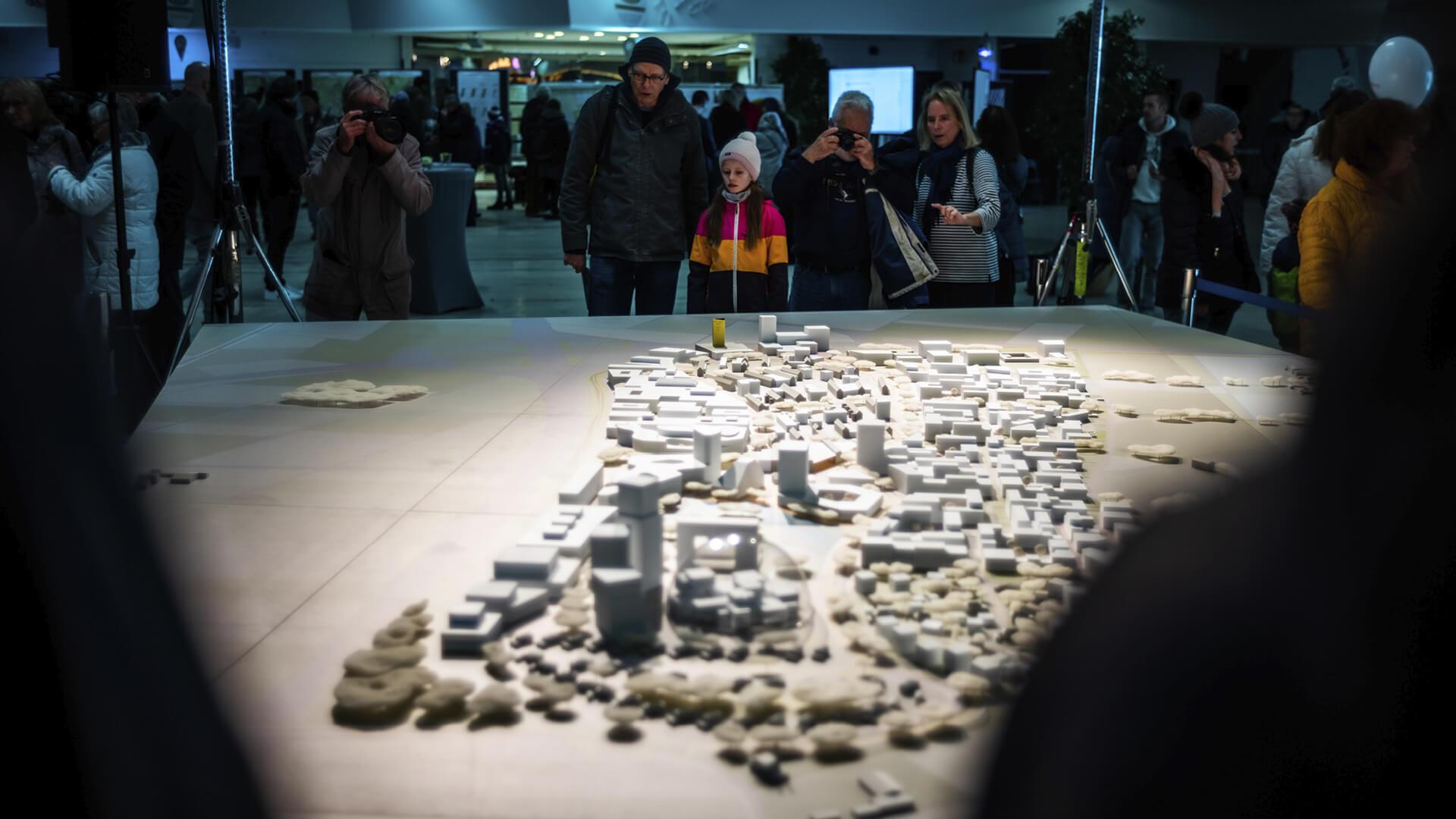 Bürgerfest im Januar 2020: Bürgerbeteiligung und Informationen zum Dynamischen Masterplan. © Dittmer